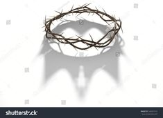 A render concept of branches of thorns woven into a crown depicting the crucifixion casting a shadow of a royal crown on isolated white background Jesus Drawings, Art Drawings, Coroa Tattoo, Thorn Tattoo, Smoke Animation, Jesus Crown, Crown Illustration, Crown Drawing, Art Diary