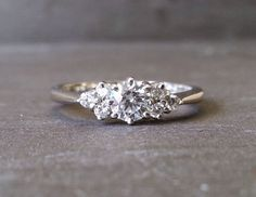 Skinny Thin Trilogy Diamond Engagement Ring Knife by ArahJames #finestrings