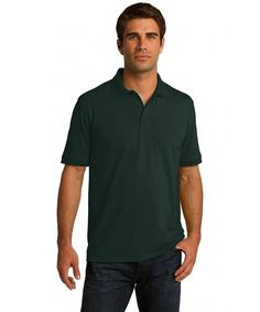 Clothe Co. Mens Big & Tall Short Sleeve Jersey Knit Polo Shirt, XLT, Deep Navy: This is a lightweight cotton/poly tall polo shirt that comes at a great value that only a Clothe Co. (TM) shirt can provide. Polo Shirts With Pockets, Short Sleeve Polo Shirts, Mens Back, Mens Outdoor Clothing, Pique Polo Shirt, Mens Big And Tall, Golf Outfit, Clothing Co, Sports Shirts