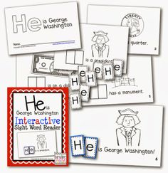 """This is Abraham Lincoln"" Interactive Sight Word Reader (from Kinder-Craze)"