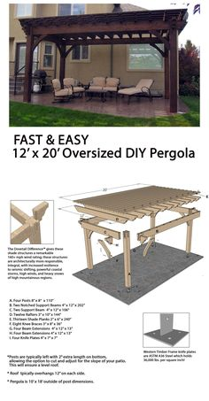 The pergola kits are the easiest and quickest way to build a garden pergola. There are lots of do it yourself pergola kits available to you so that anyone could easily put them together to construct a new structure at their backyard. Gazebo, Pergola Canopy, Pergola Swing, Cheap Pergola, Outdoor Pergola, Backyard Pergola, Patio Privacy, Backyard Shade, Patio Shade