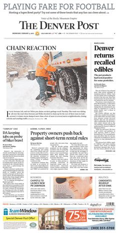 #20160203 #USA #COLORADO #Denver #TheDenverPost Wednesday FEB 3 2016 http://www.newseum.org/todaysfrontpages/?tfp_show=80&tfp_page=2&tfp_id=CO_DP