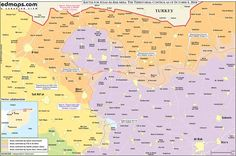 North #Syria #map before #battle of #Dabiq October 5 #Azaz #Qabtan #Aziziyah #Akhtarin #FSA #ISIS #euphrates_shield edmaps.com/html/syrian_ci…