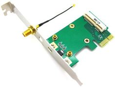 Wireless Network Ethernet LAN Mini PCI-E Card to PCI-E PCI Express Converter Adapter by XRP. $6.98. Allows Mini PCI-E card to connect to desktop PC w/ PCI-E slot. Compliant with Mini PCI-Express standard. Compliant with Single-Lane (x1) PCI-Express specification revision 1.0a. Supports 2.5Gbps PCI-E bus with full duplex channel. Supports all of Mini PCI-E cards such as WLAN, WWLAN, WIFI & SSD. 1x u.FL (IPX) to RP-SMA cables available. No driver required. Suppor...