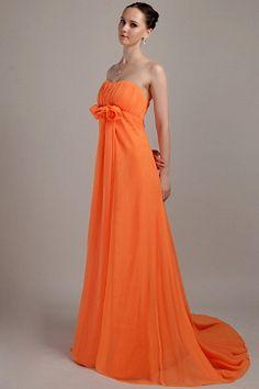 Trägerlosen A-Line Chiffon Abschluss Kleid ba1726 - http://www.brautmode-abendkleid.de/tragerlosen-a-line-chiffon-abschluss-kleid-ba1726.html - Ausschnitt: Trägerlos. Stoff: Chiffon. Ärmel: Ärmellos. Farbe: Orange. Silhouette: A-Line. - 191.59