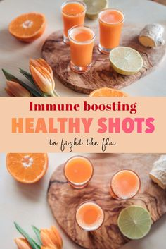 Healthy Orange Ginger Wellness shot - A quick and easy recipe to create amazing wellness shots to help boost your immune system on a day to day basis. Healthy Juice Recipes, Healthy Juices, Healthy Drinks, Healthy Snacks, Vegan Lunches, Vegan Meals, Vegan Dishes, Detox Drinks, Vegan Food