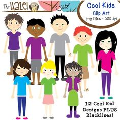 Cool Kid Clip Art! 12 Awesome Designs!!  $