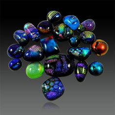 20Pcs!! Bulk lot Multi Color Dichroic Glass  Cabochon Jewelry Gemstone GS01033 #shining_gems #Dichroicglass #jewelrygemstone