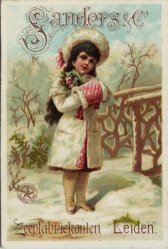 Holidays, Mary Christmas, Cards, Text & Clip Art...Victorian trade card.