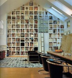 MODERN HOME OFFICE | Modern home library design and book storage ideas | For more inspirational ideas take a look at: www.bocadolobo.com #homeofficeideas