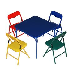 Super Flash Furniture Kids Colorful 5 Piece Folding Table And Forskolin Free Trial Chair Design Images Forskolin Free Trialorg