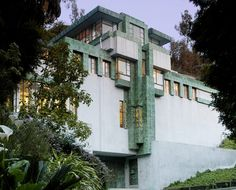 Lloyd Wright (Frank Lloyd Wright, Jr) (American, 1890-1978)  Samuel-Novarro House, 2255 Verde Oak Drive, Los Feliz, Los Angeles, California, 1928