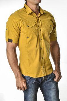 camisa-manga-tres-cuartos-para-hombre-for-men- three-quarter-sleeves Sexy, yet Casual Mens Fashion #sexy #men #mens #fashion #neutral #casual #male #males 200171 (1) Stylish Shirts, Casual Shirts For Men, Men Casual, Cargo Shirts, Boys Shirts, Gents Kurta Design, New Shirt Design, Tactical Shirt, Mens Designer Shirts
