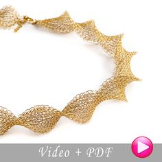 A jewelry making tutorial that will teach you how to DIY in the invisible spool knitting technique an elegant infinity necklace. The pattern is detailed and includes step by step close up photos , it