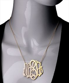 West Avenue Jewelry Large Monogram Necklace, $210.00-$850.00, the personalization is lovely.
