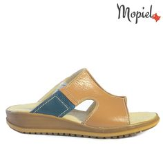 Papuci dama din piele naturala 26601/Camel/Dita