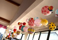 Love, love, love this Japanese Paper Balloon installation