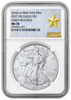 2017 (W) American Silver Eagle NGC MS70 ER Struck at West Point Label SKU45060