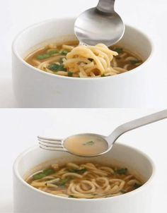 This Ramen Spoon & Fork, created by designer Masami Takahashi,is used at popular Sugakiya ramen noodle restaurant chain in Japan. It can easily ladle soup and twist noodles, allowing the user to enjoy both at once. Now you can enjoy your soup and noodles at the same time.