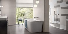 Large bath - Be stylistically confident as you design & install it - Villeroy & Boch Large Baths, Large Bathrooms, Modern Bathrooms, Can Design, Your Design, Bathroom Showrooms, Bath And Beyond, Villeroy, Shower Enclosure