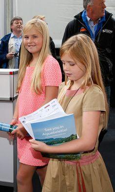 anythingandeverythingroyals: Princess Amalia and Princess Alexia, August 31, 2014