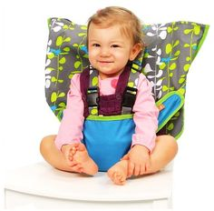 My Little Seat Travel High Chair - Seaside Stripes - Free Shipping