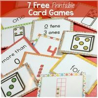 7 Printable Card Games for Numbers to 5
