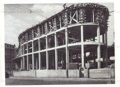 Foto storiche di Roma - Piazza Bologna, Palazzo delle Poste in costruzione Anno: 1933-1935