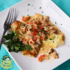 Menu Musings of a Modern American Mom: Crawfish Crepes with Creole Cream Sauce Crawfish Recipes, Cajun Recipes, Seafood Recipes, Cooking Recipes, Onion Recipes, Mushroom Recipes, Dinner Recipes, Lobster Dishes, Cajun Dishes