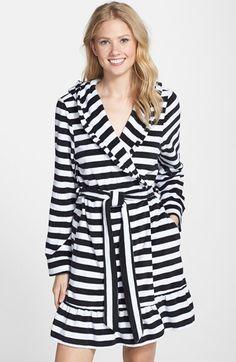 Betsey+Johnson+Hooded+Stripe+Terry+Robe+available+at+#Nordstrom bathrobe, summer robe