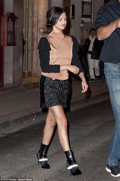Home soon: She took to opportunity to make one last appearance in the French capital before hometime