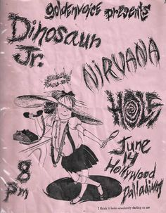 Dinosaur Jr w/ Nirvana Rock Posters, Band Posters, Concert Posters, Music Posters, Retro Posters, Festival Posters, Nirvana, Punk Poster, Gig Poster