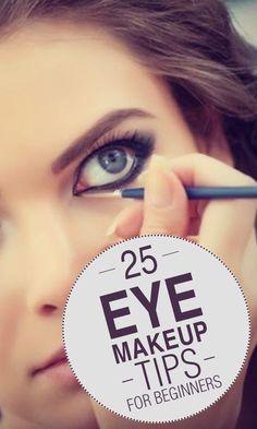 25 Eye Makeup Tips For Beginners Simple Eye Makeup, Eye Makeup Tips, Love Makeup, Skin Makeup, Makeup Looks, Makeup Ideas, Mac Makeup, Makeup Tutorials, Eyeshadow Makeup