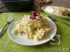 Gnocchi recipe with cabbage and bacon step by step - Vaření.cz - Gnocchi recipe with cabbage and bacon step by step – Vaření. Cabbage And Bacon, Cabbage Recipes, Gnocchi Recipes, Risotto, Potato Salad, Cauliflower, Ale, Healthy Recipes, Vegetables