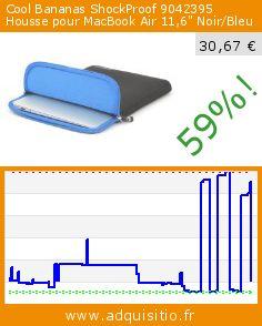 """Cool Bananas ShockProof 9042395 Housse pour MacBook Air 11,6"""" Noir/Bleu (Accessoire). Réduction de 59%! Prix actuel 30,67 €, l'ancien prix était de 75,00 €. http://www.adquisitio.fr/cool-bananas/shockproof-9042395-housse"""