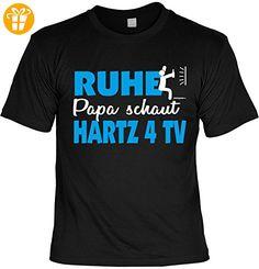 T-Shirt Vater RUHE PAPA SCHAUT HARTZ 4 TV Fernsehen bedruckt Spruch Gr: S : ) - Shirts mit spruch (*Partner-Link)