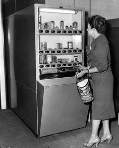 grocery vending machine, 1960s