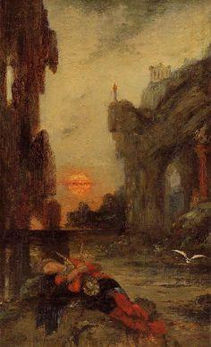 Hercules at Lake Stymphalos - Gustave Moreau - WikiArt.org