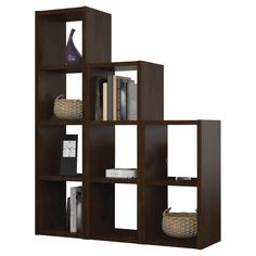 Bestar York 9 Section Cubby - Chocolate | from hayneedle.com