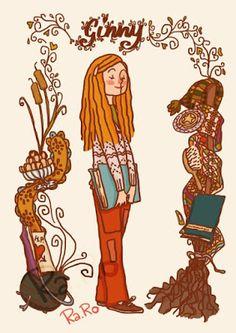 Ginny Weasley é aquela menina que aprendeu a lutar por aquilo que queria. Uma grande inspiração.