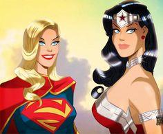 supergirl wonder woman cartoon