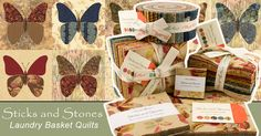 Sticks and Stones prints and batiks by Laundry Basket Quilts