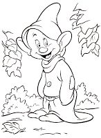 Snow White and the Seven Dwarfs Coloring Pages. Part 1