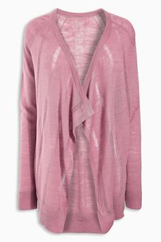 Buy Blush Linen Mix Waterfall Cardigan from the Next UK online shop Waterfall Cardigan, Stripes Fashion, Striped Cardigan, Lipsy, Next Uk, Uk Online, Latest Fashion For Women, New Outfits
