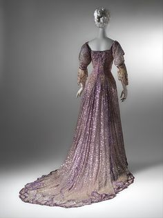 Evening dress Designer: Henriette Favre Date: 1902 Culture: French Medium: silk, sequins Dimensions: [no dimensions available] Credit Line: Gift of Miss Irene Lewisohn, 1937