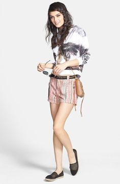 Madison & Berkeley Pullover & Free People Shorts  available at #Nordstrom
