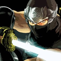 Ninja Gaiden: Dragon Sword black T-shirt with ninja master Ryu Hayabusa wielding the Dragon Sword. Ryu Hayabusa, Dragon Ninja, Dragon Sword, Ninja Gaiden, Fighting Poses, Ghost Hunters, Snake Eyes, Cool Posters, Mortal Kombat