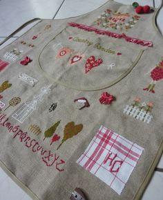 Cool cross stitch apron