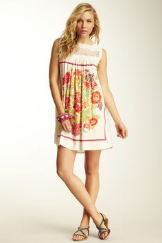 Fiesta Print Dress by Free People on @HauteLook
