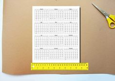 2017 Calendars Printable Mini For Crafts Planners PDF by OleDeMa
